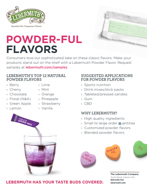 powder flavor sheet