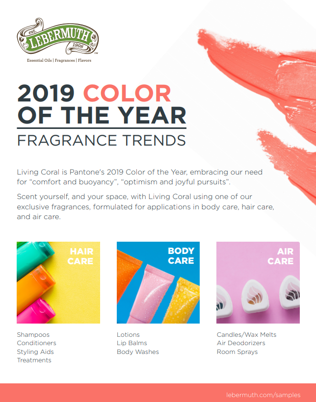 Fragrance Trends inspired by Pantone's 2019 Color of the Year - Living Coral